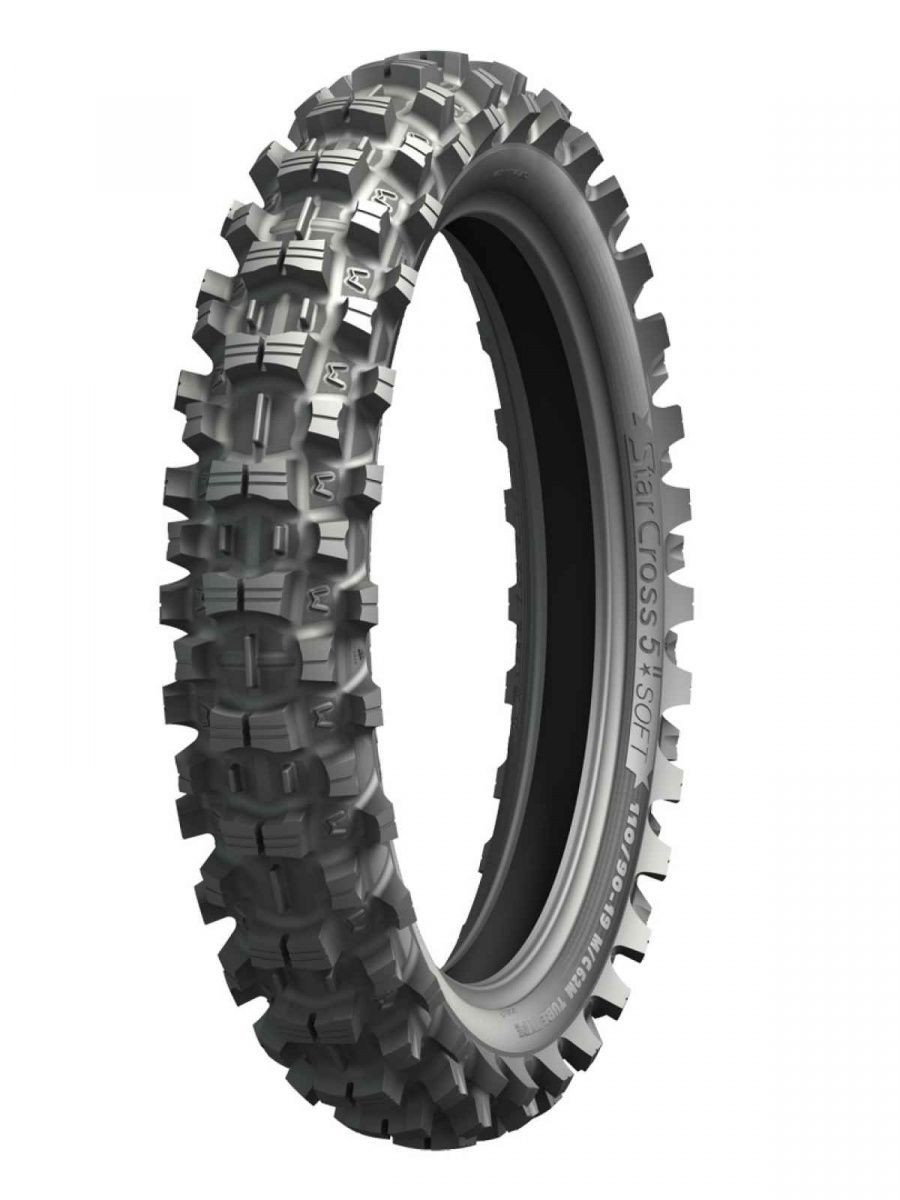 Моторезина задняя Michelin 275510 STARCROSS 5 SOFT размер 120/80 R19 для мотоциклов